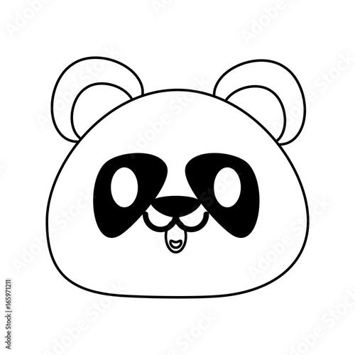 Fototapeta panda bear cute animal cartoon icon image