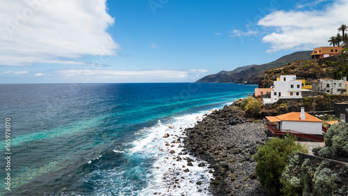 Poster Canarische Eilanden Beautiful coastline of La Palma