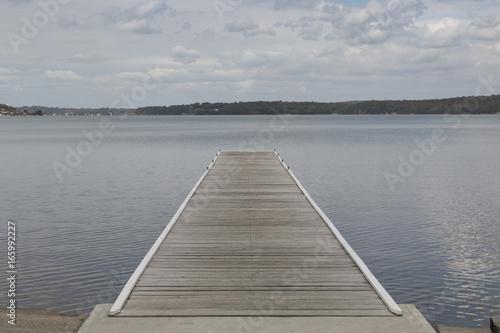 Fototapeta lake macquarie warners bay jetty