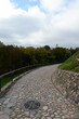 Serpentine road to the mountain of Gediminas in Vilnius. - 165993897