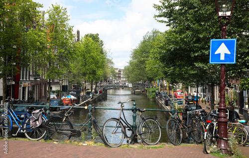 Poster Typisches Stadtbild Amsterdam