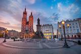 Krakow. Image of Market square Krakow, Poland during sunrise. - 166002613