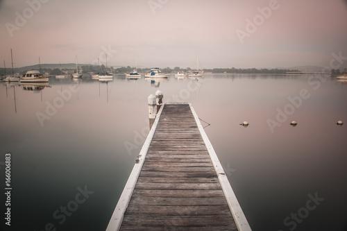 Plexiglas Pier Lake Macquarie sunset warners bay wangi wangi speers point bolton