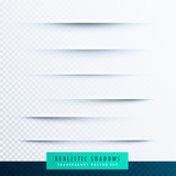 realistic paper shadows effect collection background - 166009015
