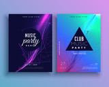 music party invitation poster template set - 166009254
