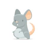 Cute cartoon mouse vector isolated