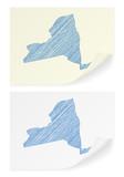 New York scribble map