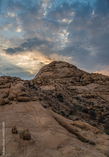 Papiers peints Cappuccino Sunset in Spitzkoppe mountains
