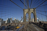 New York, Downtown from Brooklyn bridge - 166041652