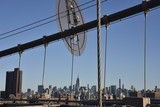 Manhattan depuis le Brooklyn bridge - 166042285