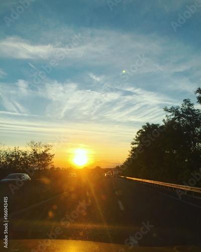 tramonto strada