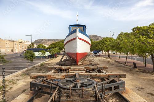 Old fishing boat in Cartagena, Spain