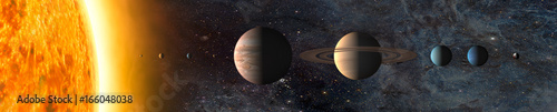 Solar system. Elements of this image furnished by NASA - 166048038