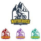 unique motocross illustration logo