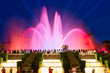 Magic Fountain and National museum lights at night, Barcelona, Catalonia Spain