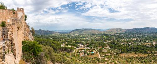 Foto op Canvas Panoramafoto s Panorama Landschaft Xativa Spanien