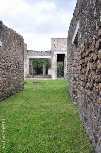 Gazon au milieu des ruines de Pompéi Italie Poster