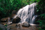 Small and safe water flows, cool air and green scenery are attractions that you can enjoy when you visit Gombak waterfall in Selangor, Malaysia