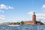 Widok na Ratusz w Sztokholmie w Szwecji