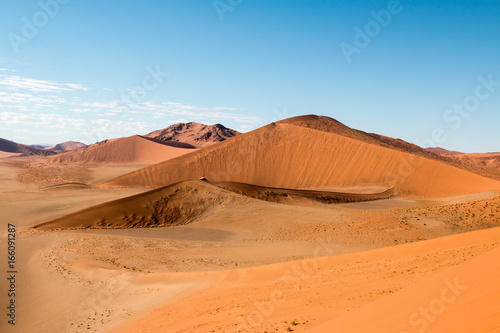Foto op Canvas Blauw Beautiful desert landscape around Sossusvlei, Namibia, Africa