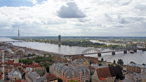 Keuken foto achterwand Antwerpen SONY DSView of the Daugava river from the Cathedral of St. Peter, Riga, Latvia