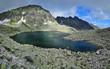 High Tatras lake in rocks -Stork Lake, Mlynicka Valley