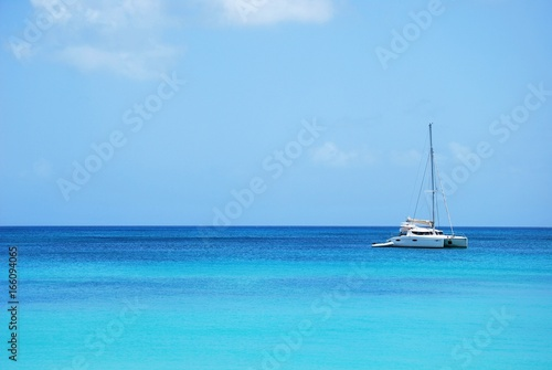 Plage Marie Galante, Guadeloupe, Caraibes - 166094065