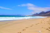 Creek, beach, mountains, , Fuerteventura, Canary Islands, Spain