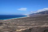 Creek, beach, mountains, Fuerteventura, Canary Islands, Spain