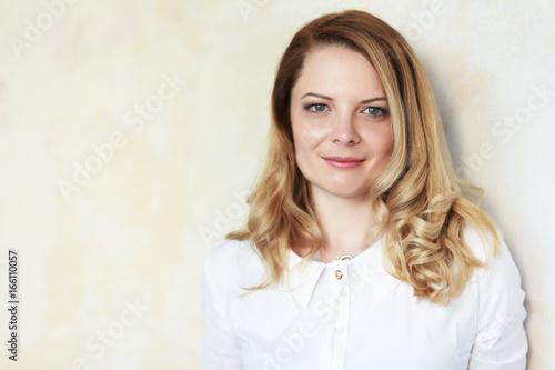 beautiful blond woman Poster