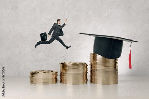 Graduation, knowledge and success concept