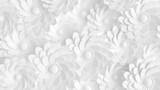Piękny, elegancki papierowy kwiat w stylu ręcznie robionym na białej ścianie. 3d ilustracji, 3d ..rendering.