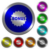 Bonus sticker luminous coin-like round color buttons