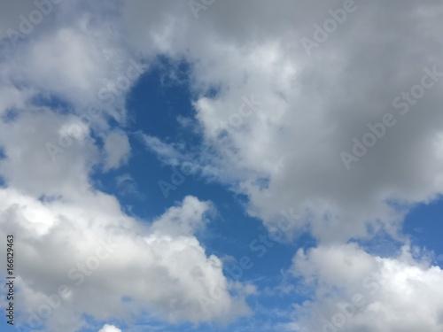 cielo azzurro con belle nuvole bianche