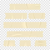 Adhesive tape. Set of realistic sticky tape stripes isolated on transparent background - 166141283