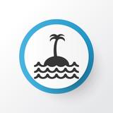 Island Icon Symbol. Premium Quality Isolated Reef Element In Trendy Style.