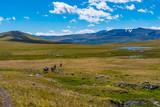 Hochmoor im Altai Tavan Bogd Gebirge Mongolei
