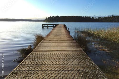 Foto op Aluminium Pier wooden pier