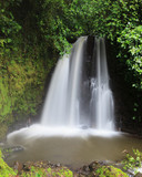 Waterfall in costa rica forest