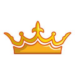 Milady crown icon, cartoon style