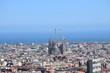 Imagen aérea de Barcelona desde Parque Güell