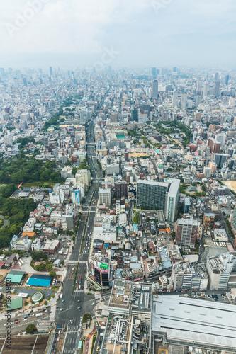 Tuinposter Grijs 都市風景 日本 大阪