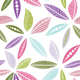 Colorful seamless floral pattern - 166165489