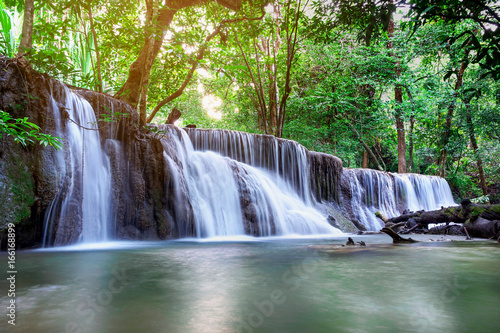 Beautiful waterfall  landscape in Thailand Poster