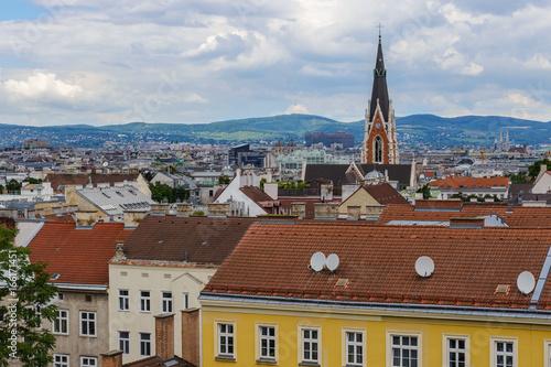 Vienna city skyline, Vienna, Austria