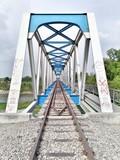 kolej żelazna. most.