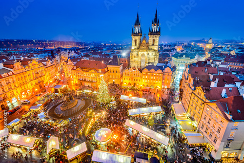 Prague, Czech Republic - Christmas Market Poster