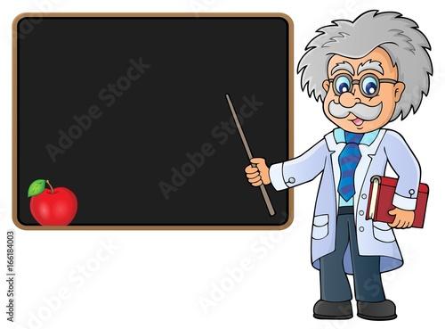 Scientist by blackboard theme image 2