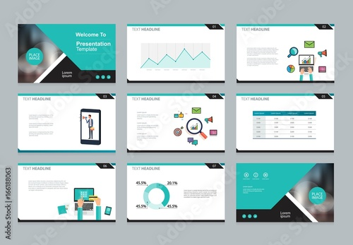 layout design template for business presentation , brochure page , and annual report page with cover background design and infographic elements template
