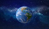 Fototapety Planet earth in outer space
